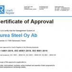 aurea-steel-certificate-iso14001-iso45001-iso9001